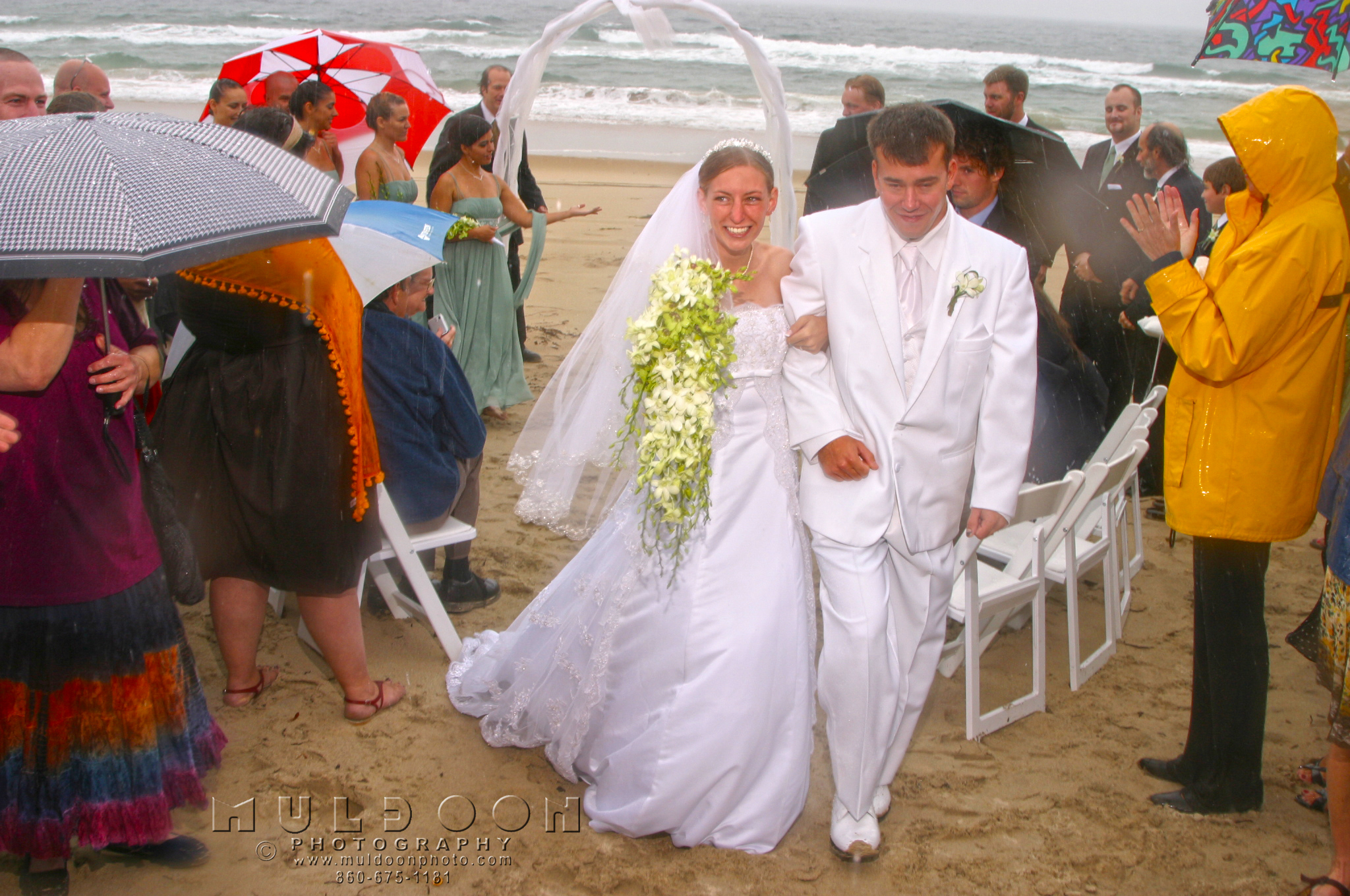 Rainy Wedding On Block Island